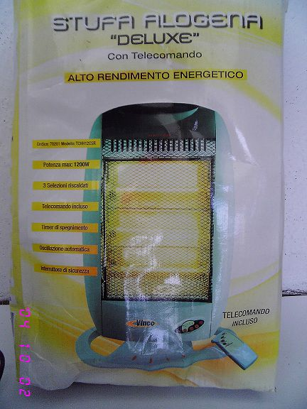 14AT10-STUFA ALOGENA ALTO RENDIMENTO ENERGETICO 1200watt.