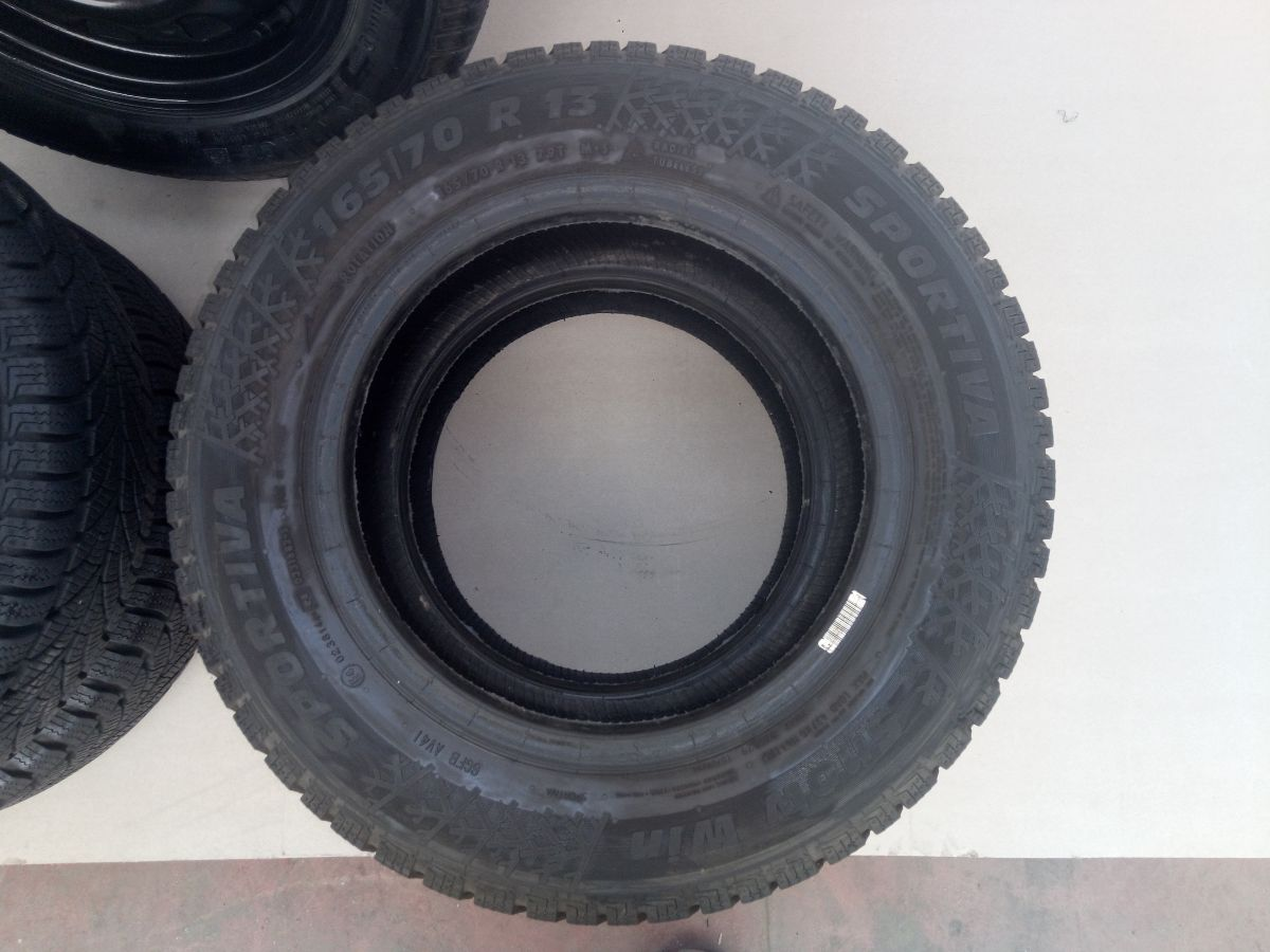 6-RUOTE PNEUMATICI GOMME 165 70 R13 M+S